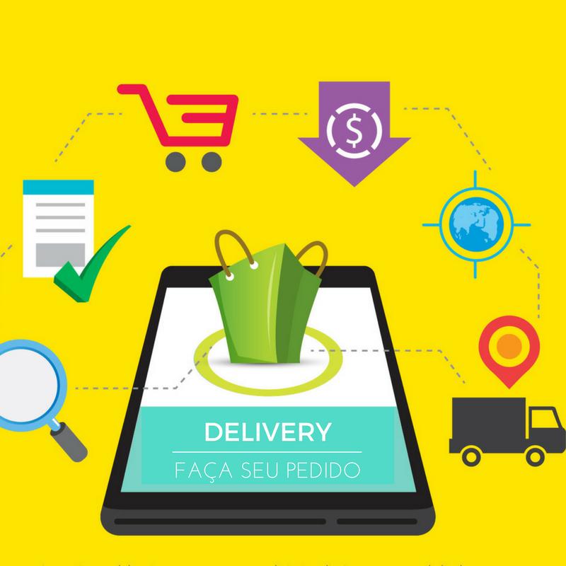 Faça seu pedido delivery através de aplicativos