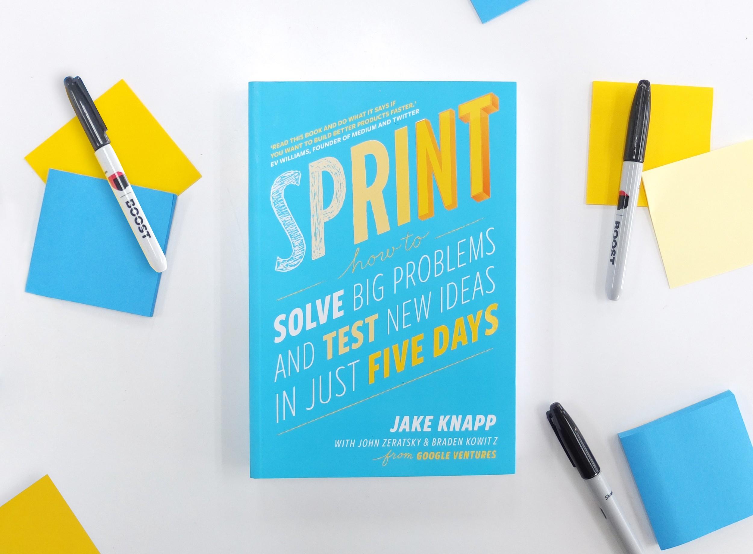 Capa do livro Sprint, de Jake Knapp