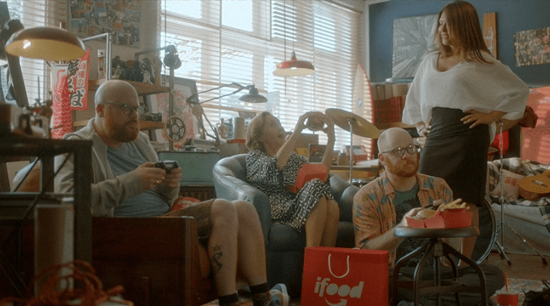 Cena da campanha do iFood veiculada em setembro de 2018
